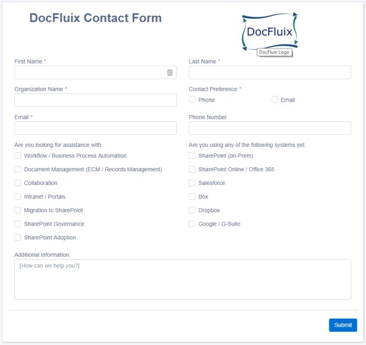 DocFluix Contact Form
